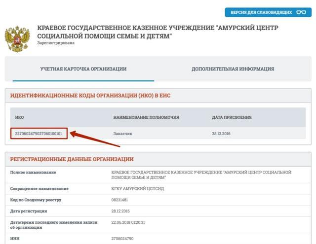 Идентификационный код закупки - формирование на 2019 год