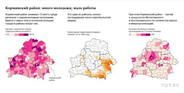 Какой товарооборот на одного жителя в каждом регионе Беларуси – интерактивные карты